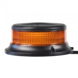 LED maják, 12-24V, 18x1W oranžový, magnet, ECE R65