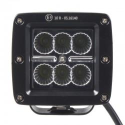 LED svetlo hranaté, 6x3W, 82x75x72mm, ECE R10