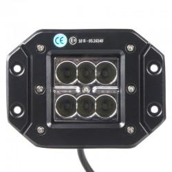 LED svetlo hranaté, 6x3W, 122x91x68mm, ECE R10