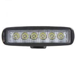 LED svetlo obdĺžnikové, 6x3W, 160x46x53mm, ECE R10