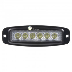 LED svetlo obdĺžnikové, 6x3W, 185x59x35mm, ECE R10