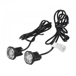 2x PROFI výstražné LED svetlo vonkajšie oranžovej, 12-24V, ECE R65