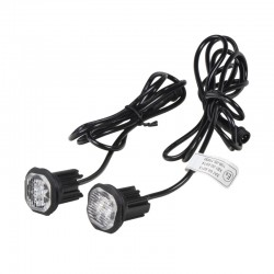 2x PROFI výstražné LED svetlo vonkajšie modrej, 12-24V, ECE R65