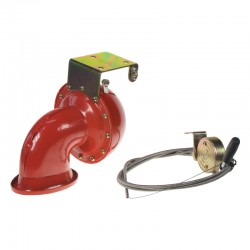 Bull horn siréna 12V, červená, s ovládačom