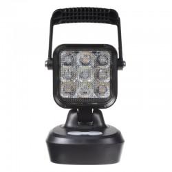 AKU LED svetlo prenosné, biela / oranžová, 18x 1W, 103x105x201mm, ECE R10