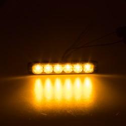 PROFI SLIM výstražné LED svetlo vonkajšie, oranžovej, 12-24V, ECE R65