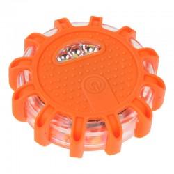 LED výstražné svetlo 12 + 3LED na 3x batériu AAA, oranžové