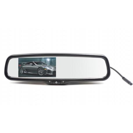 LCD monitor 4,3 v zrkadle pre OEM montáž, dimming-ztmavovací