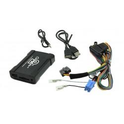 Connects2 - ovládanie USB zariadenia OEM rádiom Fiat, Alfa Romeo / Blaupunkt AUX vstup