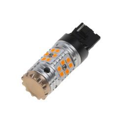 LED T20 (7440) oranžová, CAN-BUS, 12-24V, 24LED / 3030SMD