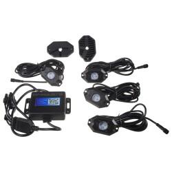 LED podsvietenie podvozku RGB 12-24V, Bluetooth, 12x3W