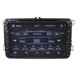 Autorádio pre VW, Škoda s 8 LCD, GPS, multicolor, ČESKÉ MENU