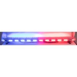 LED rampa 1442mm, modrá / červená, 12-24V, ECE R65