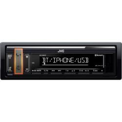 JVC autorádio bez mechaniky / Bluetooth / USB / AUX / voliteľnou farbou podsvietenia tlačidla / odním.panel
