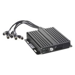 Čierna skrinka pre záznam obrazu zo 4 kamier, GPS, 1x slot SD