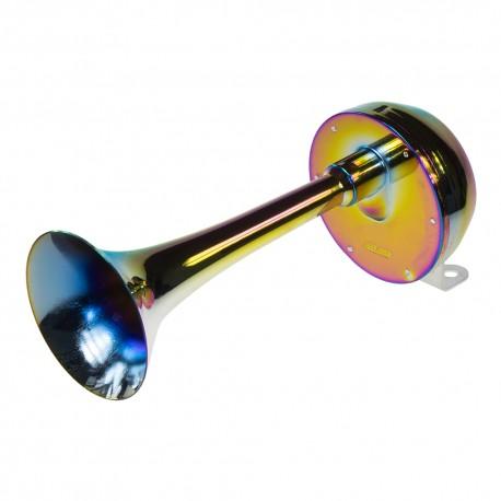 Singel-fanfára 260mm, chróm-dúha, 24V, elektromagnetické, vysoký tón