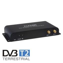 DVB-T2 / HEVC / H.265 digitálny tuner s USB + 4x anténa