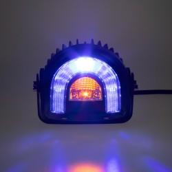 PROFI LED výstražné svetlo-oblúk 10-80V modrej, 138x126mm