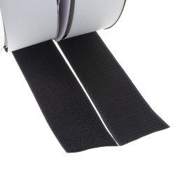 Suchý zips samolepiaci, slučky + háčiky 50mm x 25m