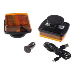 LED výstražné svetlo, oranžové, ECE R65, set 2ks