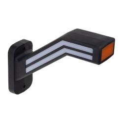 Pozičné LED (tykadlo) gumové ľavej - červeno / bielo / oranžové, 12-24V, ECE