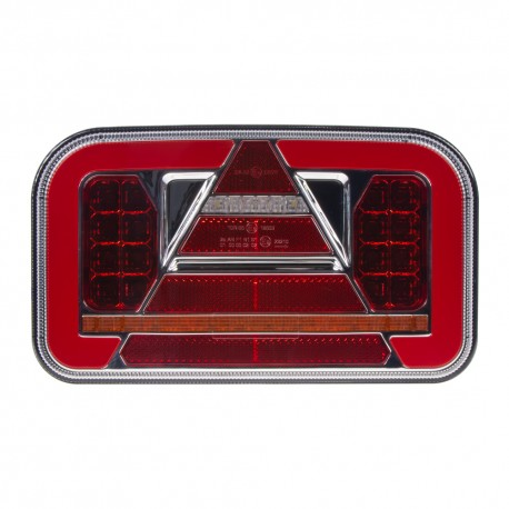 Združená LED lampa pravá zadná s dynamickými blinkre 12 / 24V