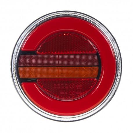 LED združená lampa zadná ľavá s dynamickými blinkre, 12-24V, ECE