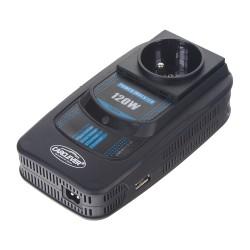 Menič napätia z 12 / 220V + USB 120W
