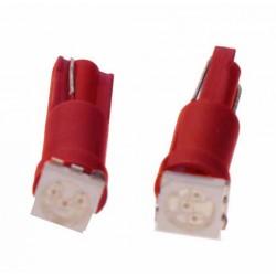 LED T5 červená, 12V, 1LED / 3SMD