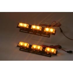 PREDATOR LED do mriežky, 12V, oranžový