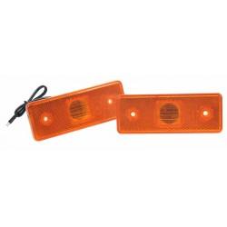 Bočné obrysové svetlo LED, oranžové 24V