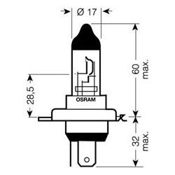 OSRAM 12V H4 60 / 55W standard (1ks)
