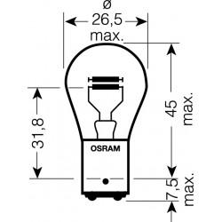 OSRAM 12V P21 / 4W (BAZ15d) 21 / 4W štandard (10ks)
