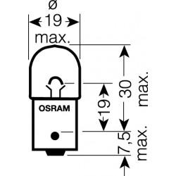 OSRAM 12V R5W (BA15s) 5W štandard (10ks)