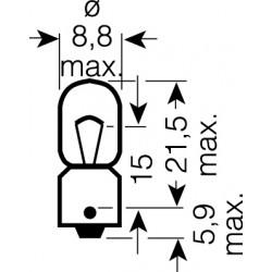 OSRAM 12V T4W (BA9s) 4W štandard (10ks)