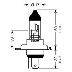OSRAM 24V H4 75 / 70W standard (1ks)