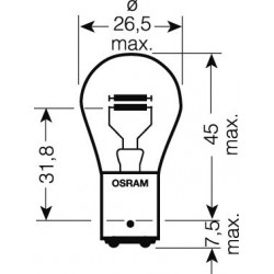 OSRAM 24V P21 / 5W (BAY15d) 21 / 5W štandard (1ks)