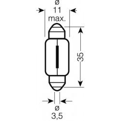 OSRAM 24V C5W (SV8,5-8) 5W štandard (10ks)