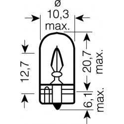 OSRAM 12V W3W (W2,1x9,5d) 3W štandard (10ks)