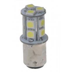 LED BAZ15d (dvouvlákno) biela, 12V, 13LED / 3SMD