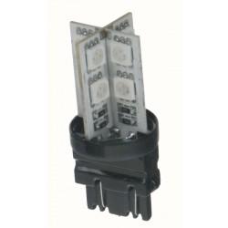 LED T20 (3157) oranžová, 12V, 16LED / 3SMD