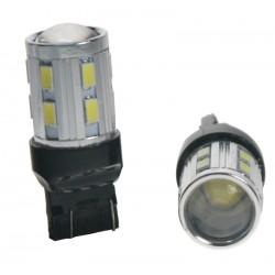 CREE LED T20 (7443) biela, 12SMD Samsung + 3W Osram 10-30V