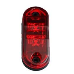 Zadné obrysové svetlo LED, červený ovál