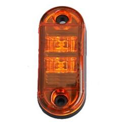 Bočné obrysové LED svetlo 12-24V, oranžový ovál, homologácia