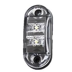 Predné obrysové svetlo LED, biely ovál