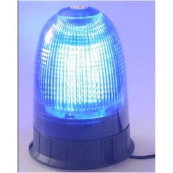 LED maják, 12-24V, modrý magnet, 80x SMD5050, ECE R10
