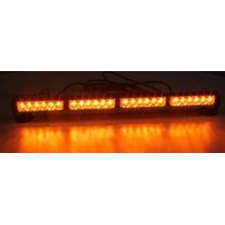 LED svetelná alej, 24x 1W LED, oranžová 645mm, ECE R10