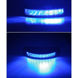 PROFI výstražné LED svetlo vonkajšie, modrej, 12-24V, ECE R10