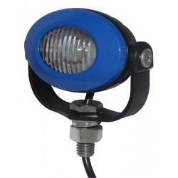 PROFI LED výstražné svetlo 12-24V 3x3W modrý ECE R10 92x65mm