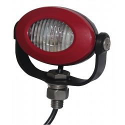 PROFI LED výstražné svetlo 12-24V 3x3W červený ECE R10 92x65mm